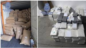 Detectan un alijo de 535 kilos de cocaína en un contenedor de especias en el puerto de Valencia