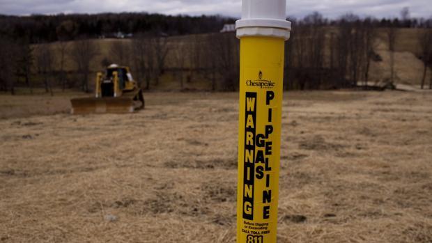 Marcador para prospecciones de «fracking» en Estados Unidos
