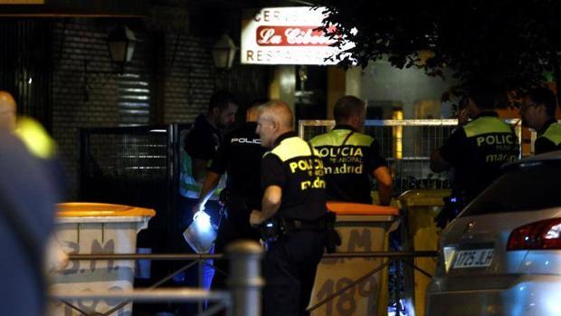 La policía en el lugar del suceso en la calle Bravo Murillo el pasado día 8 de septiembre