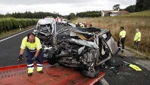 Un kamikaze deja dos muertos y un herido muy grave en la A-6 en Lugo