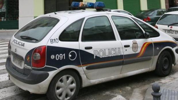 Coche de la Policia Nacional en Valencia