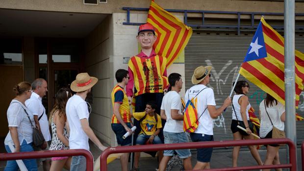Imagen de la celebración de la Diada en Barcelona