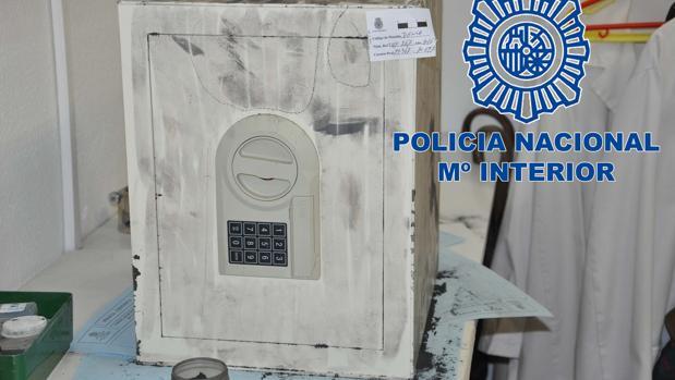 La caja fuerte sustraída de la casa de la anciana