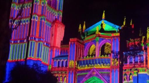 Imagen que se proyectará sobre la fachada de la catedral de Toledo en «Luz Grec0·»