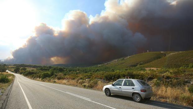 Incendio en el municipio de Fabero (León)