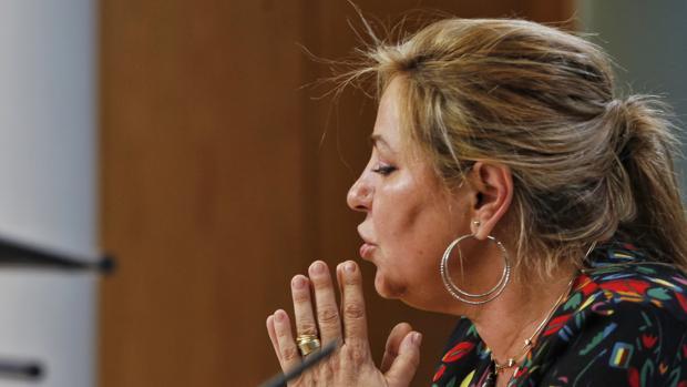 Rosa Valdeón, durante la rueda de prensa del pasado sábado