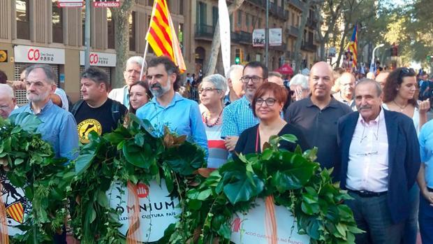 Imagen de la comitiva de la Federació Llull tomada el domingo en Barcelona