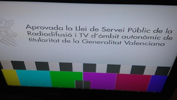 Imagen de la emisión actual de la televisión valenciana