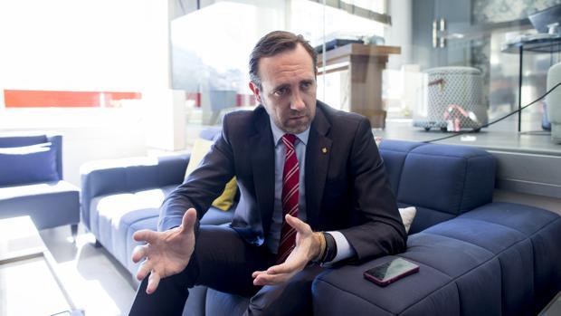 José Ramón Bauzá, ex presidente de las Islas Baleares, en una entrevista que concedió a ABC