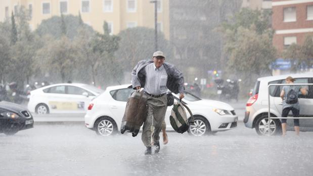 Imagen de la tormenta en Valencia