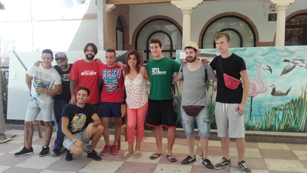 La concejal de Turismo, Nieves Patiño, junto a los participantes