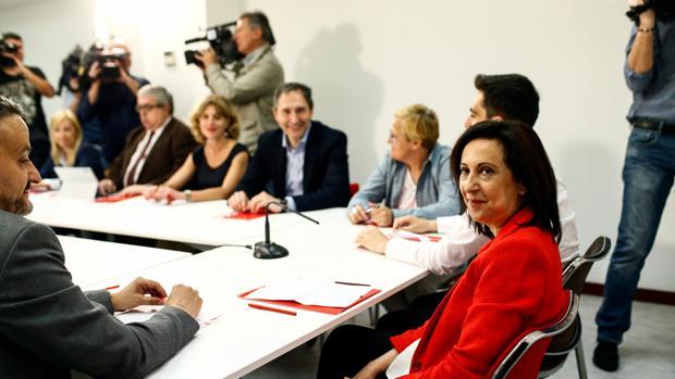 La portavoz de justicia del PSOE en el Congreso, Margarita Robles