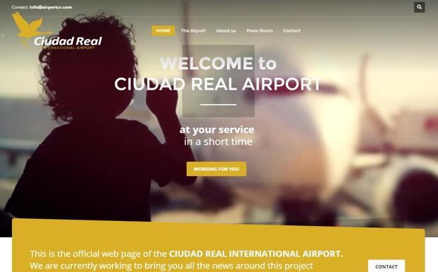 Página de inicio del aeropuerto de Ciudad Real