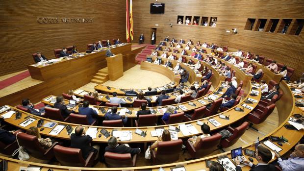 Imagen de Ximo Puig en las Cortes