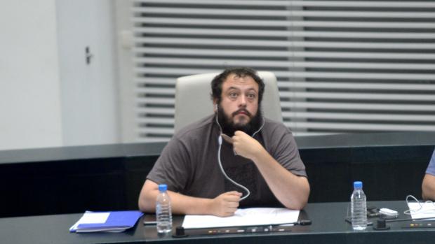 Zapata, en un pleno del Ayuntamiento de Madrid