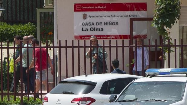 El día del secuestro en Colmenar del Arroyo, después de detener al acusado