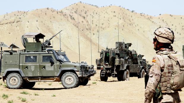 Un vehículo lince del Ejército español