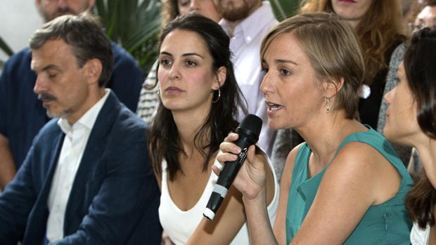Tania Sánchez y Rita Maestre, durante la presentación de la candidatura «Adelante Podemos»