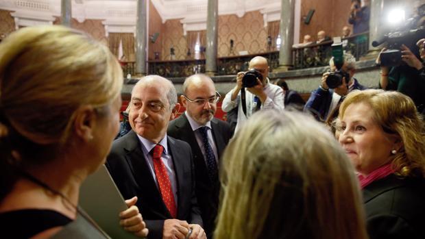 Imagen de archivo de los concejales del PP en Valencia