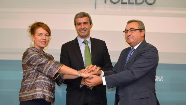 Aurelia Sánchez, Álvaro Gutiérrez y Juan Carlos Santos