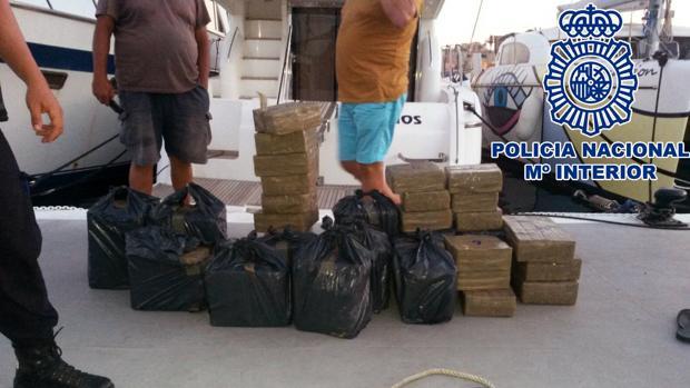Imagen de archivo de hachís incautado por la Policía Nacional