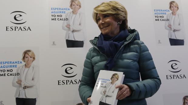 Esperanza Aguirre, en la presentación de su libro «Yo no me callo»