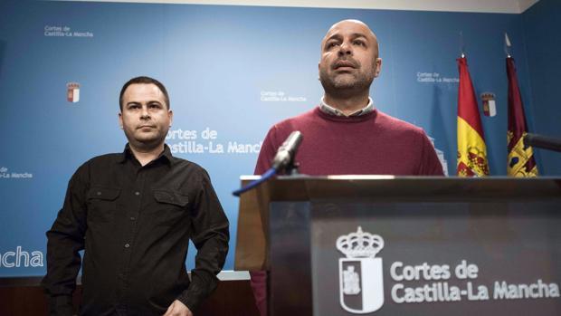 David Llorente, al fondo, con García Molina en primer plano