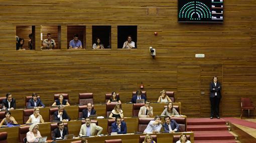 Imagen de la bancada del PP durante la votación