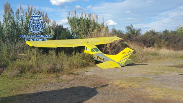 Imagen de la avioneta que ha sufrido el percance