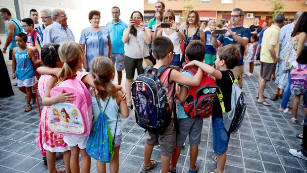 Imagen tomada el día 8 en Valencia en el arranque del curso escolar