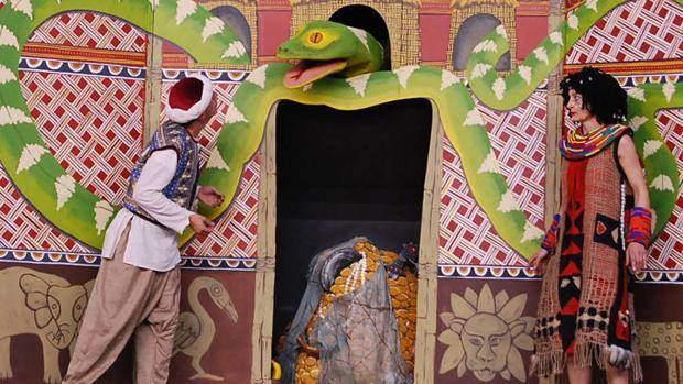 Escena de la obra «El tesoro de la serpiente de Guaguadú