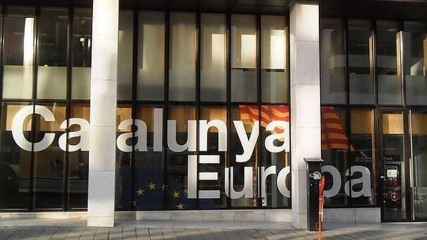 Fachada de la delegación catalana en Bruselas
