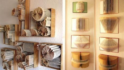 Imagen de papel de libro diseñado con distintas formas