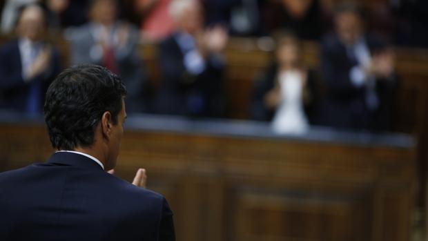 Pedro Sánchez, en su intervención en el Congreso durante la segunda sesión de la investidura