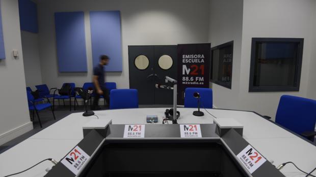 El estudio de la nueva emisora municipal, en una imagen de archivo