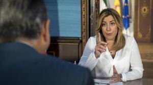 Susana Díaz: «Que cuanto antes pagen los que se beneficiaron de un hecho que nos abochorna a todos»