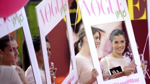 En el Espacio Vogue se instaló un «photocall» para llevarte un recuerdo de la noche