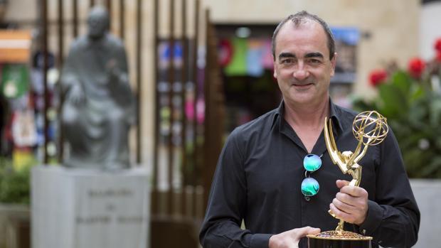 El compositor Víctor Reyes, durante su visita a Salamanca