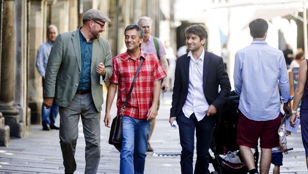 Martiño Noriega, Xulio Ferreiro y Jorge Suárez, los alcaldes de las Mareas de Santiago, Coruña y Ferrol