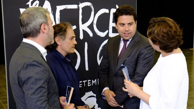 Pérez Andújar, el segundo por la izquierda, durante la presentación de la Mercè