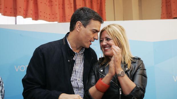 Sánchez y Sestayo, durante una comida con simpatizantes en Ferrol