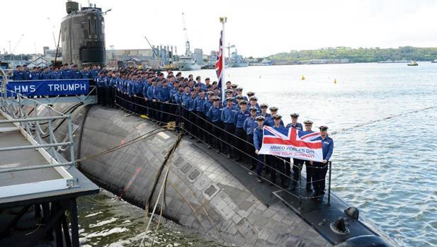 El submarino «HSM Triumph», en una fotofgrafía de archivo