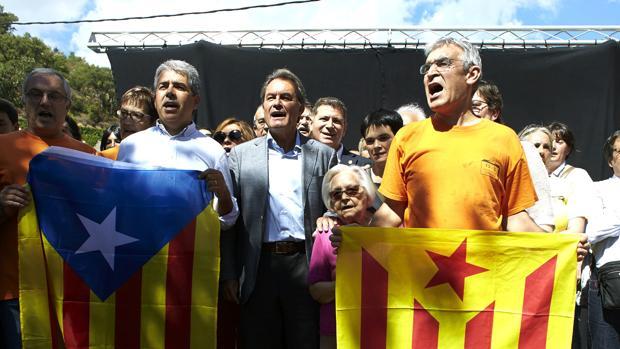 Homs y Mas, durante su participación en el Aplec Independentista de Arenys