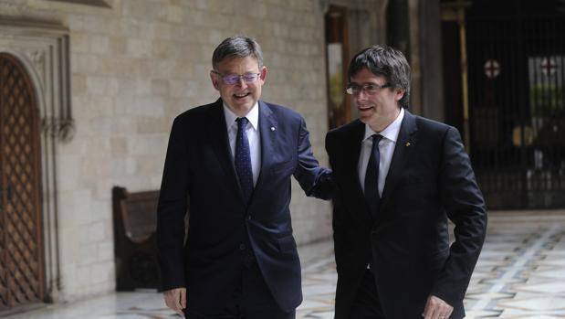 Puig y Puigdemont, durante el anterior encuentro en Cataluña