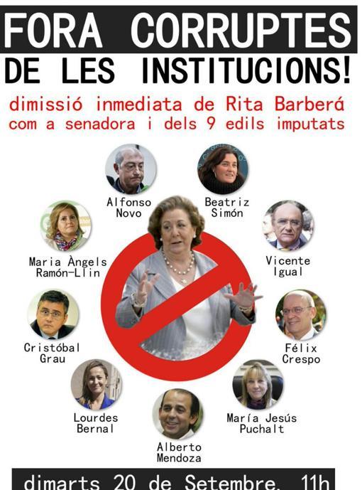Imagen del cartel de la manifestación