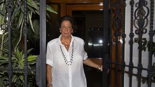 Rita Barberá sale de su domicilio en Valencia el pasado jueves