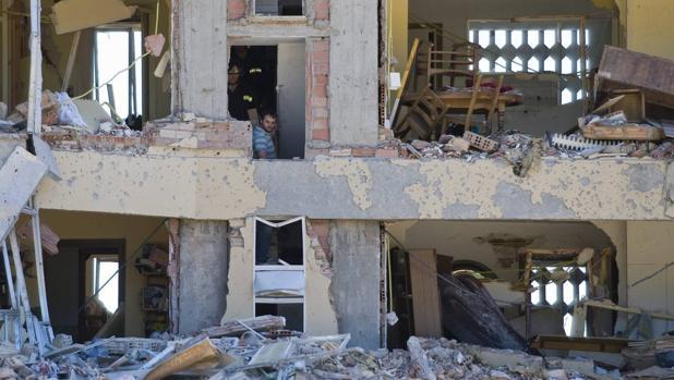 Casa cuartel de la Guardia Civil de Burgos tras el atentado