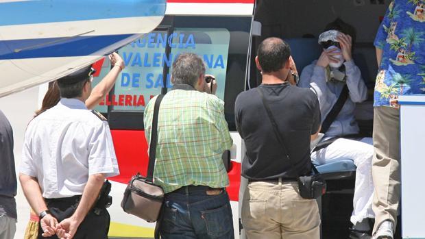 Llegada de la «niña burbuja» valenciana en 2008