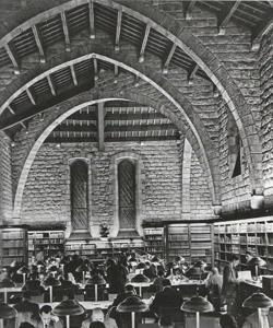 Sala de lectura de la Biblioteca de Cataluña (1958)