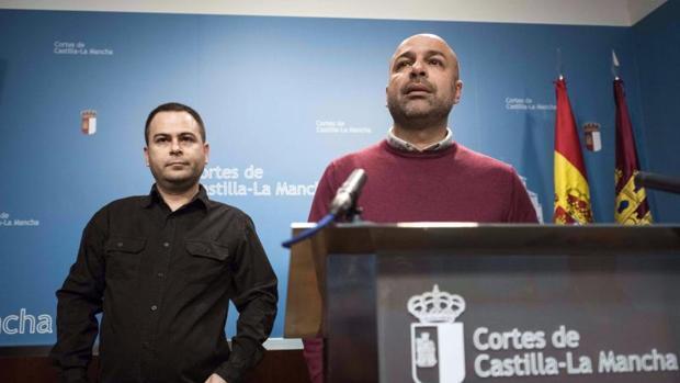 David Llorente y José García Molina, diputados de Podemos en las Cortes de Castilla-La Mancha